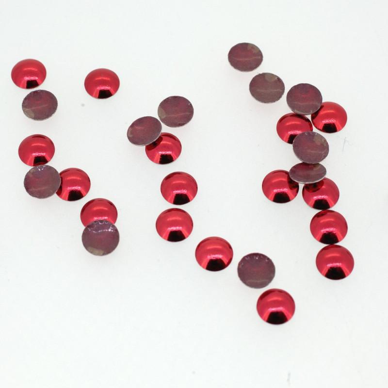 Clous bombés rouge vermillon
