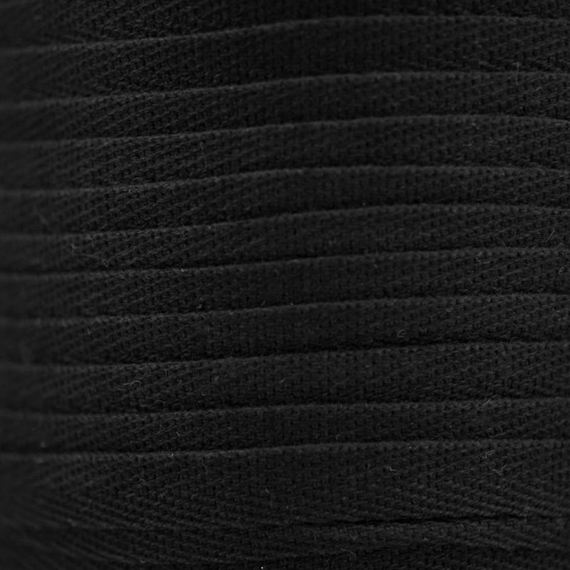 COTTON RIBBON SERGE BLACK x 1 m