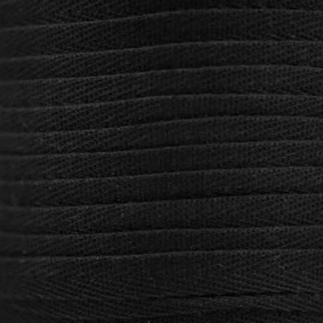 RUBAN COTON SERGE NOIR x 1m
