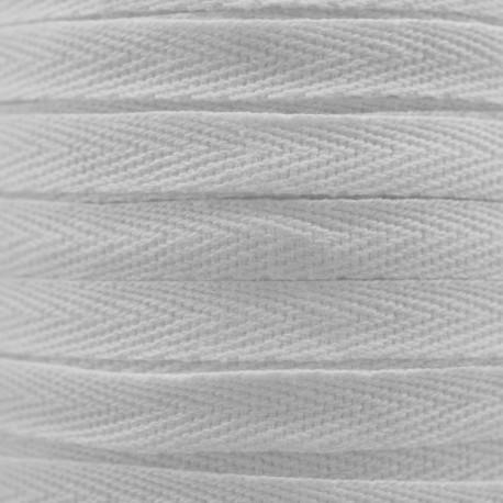 RUBAN COTON SERGE BLANC x 1m