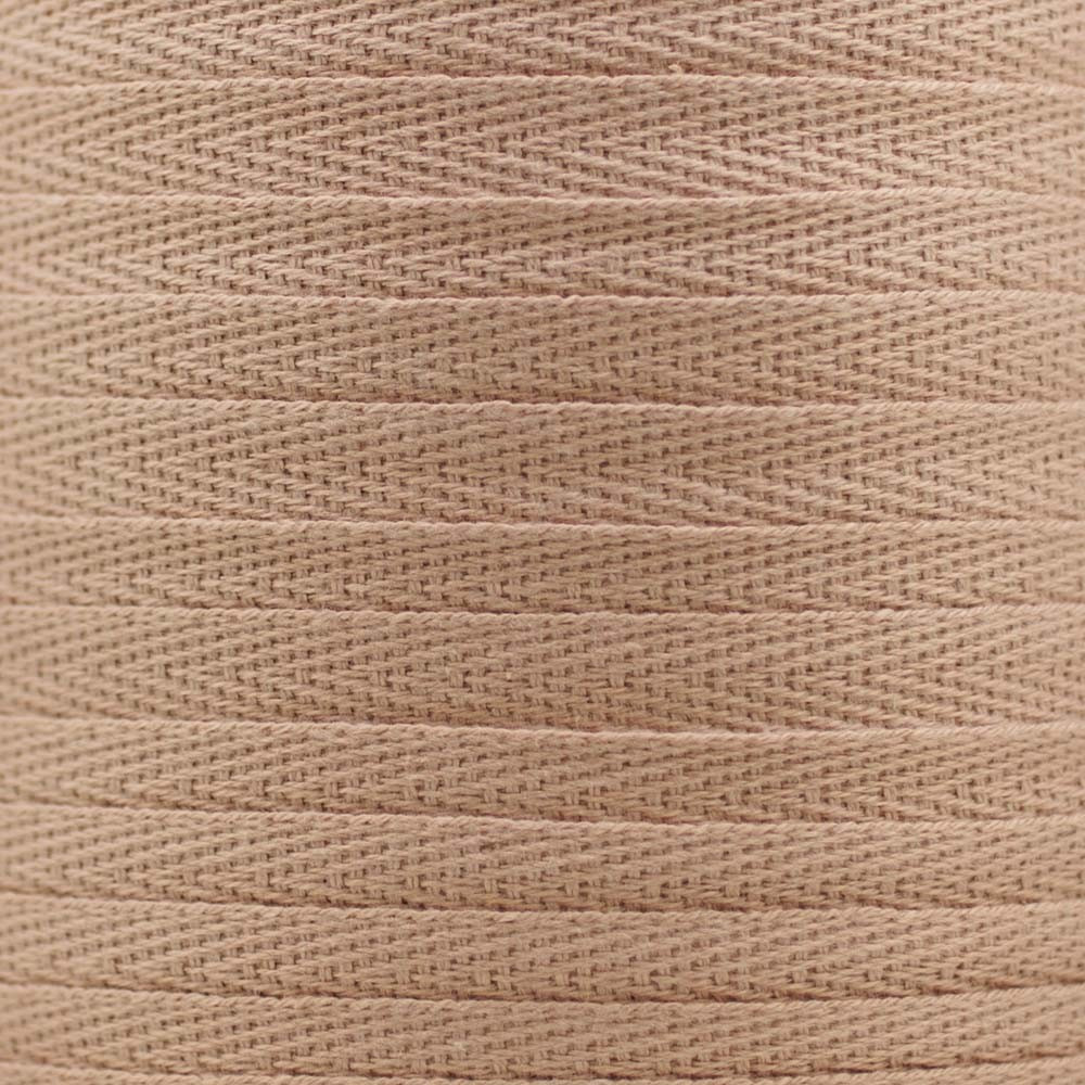 RUBAN COTON SERGE TOASTED ALMOND x 1m