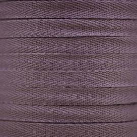 RUBAN COTON SERGE MAUVE x 1m