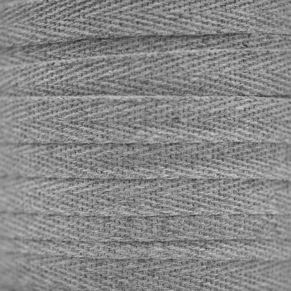 RUBAN COTON SERGE GRIS CLAIR CHINÉ x 1m