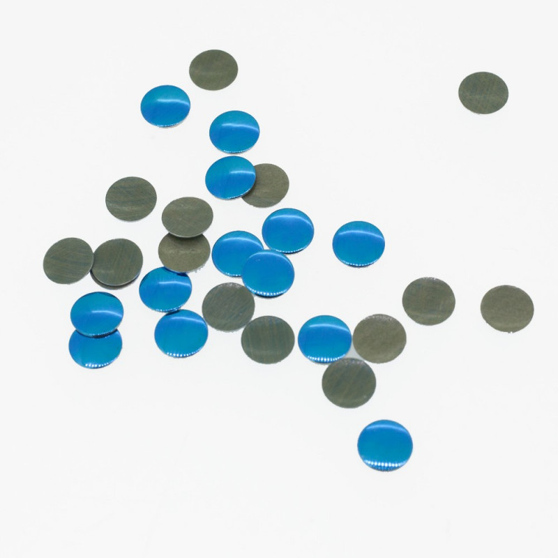 Clous plats bleu azur