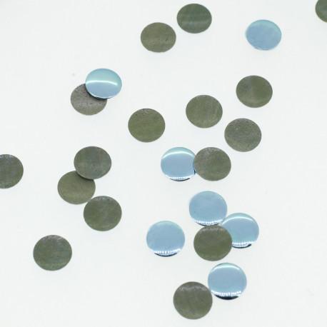 Clous plats bleu gris