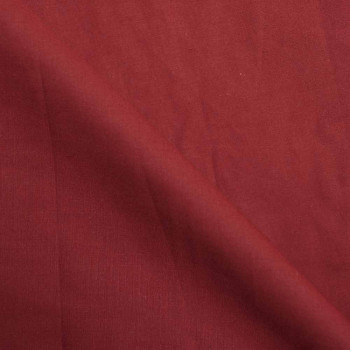 TISSU COTON POPELINE ROUGE  X 10 CM