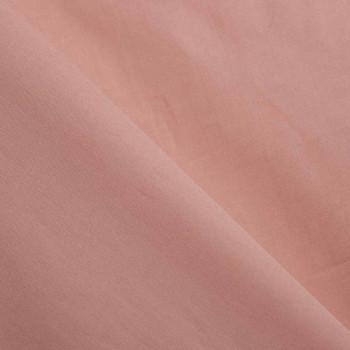 TISSU COTON POPELINE ROSE PÂLE  X 10 CM