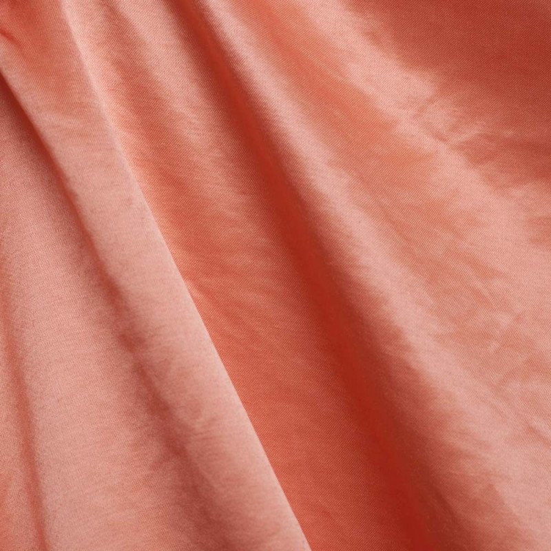 TISSU POLYESTER SATINÉ ROSE CORAIL x 10 CM