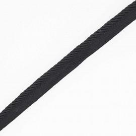 passepoil noir  x 1m
