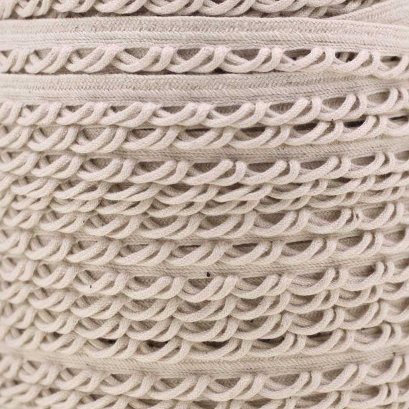 passepoil coton brodé écru x 1m