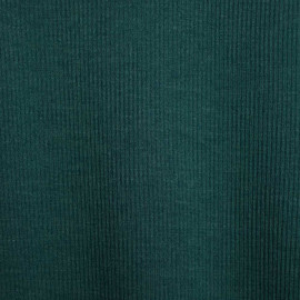 Tissu maille côtelé pacific x 10 CM