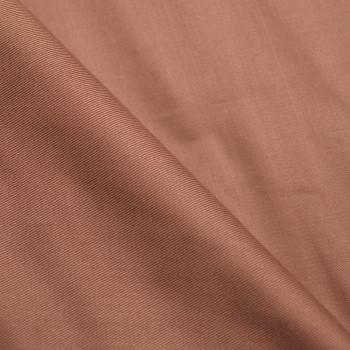 tissu tencel serge rose liège  x 10 CM