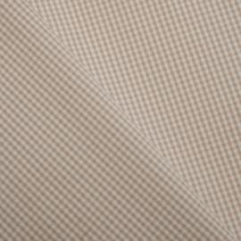 TISSU VICHY SABLE & BLANC x 10 CM