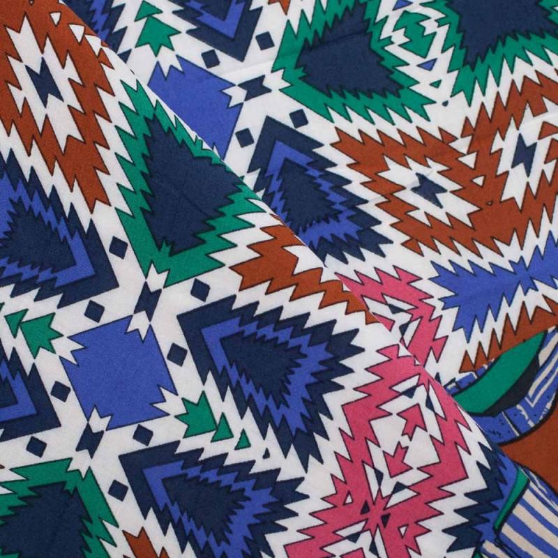 TISSU VISCOSE IMPRIME AFRICA X 65 CM