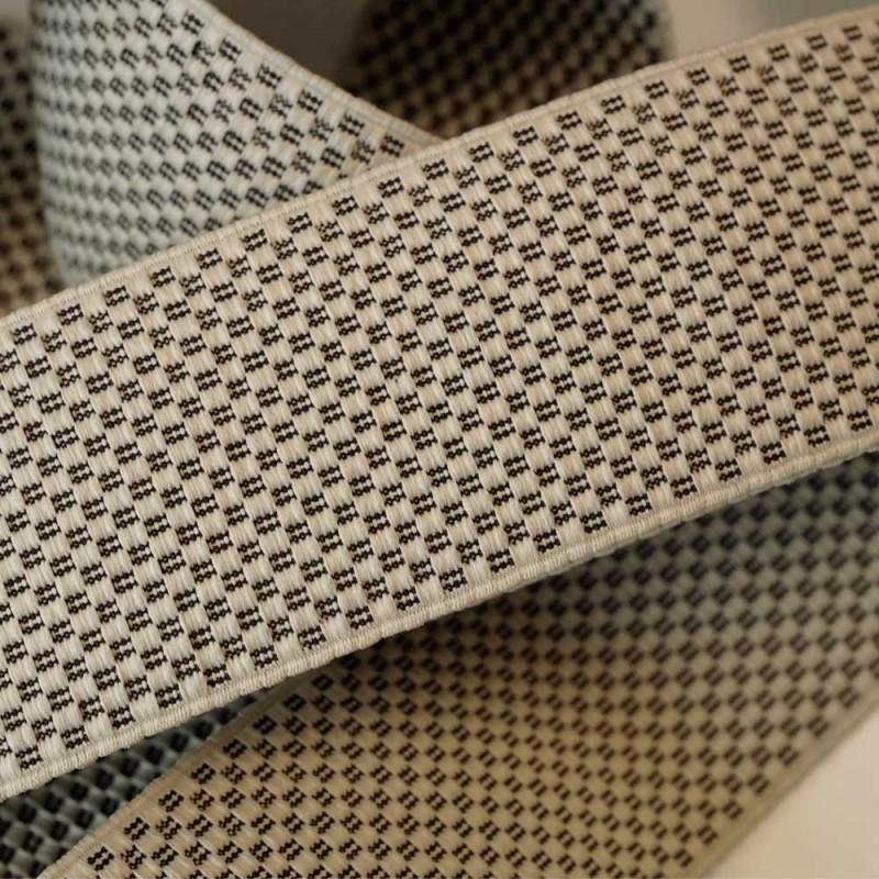 Élastique plat tissé motif damier 60 mm