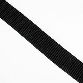 Élastique plat plissé noir 40 mm