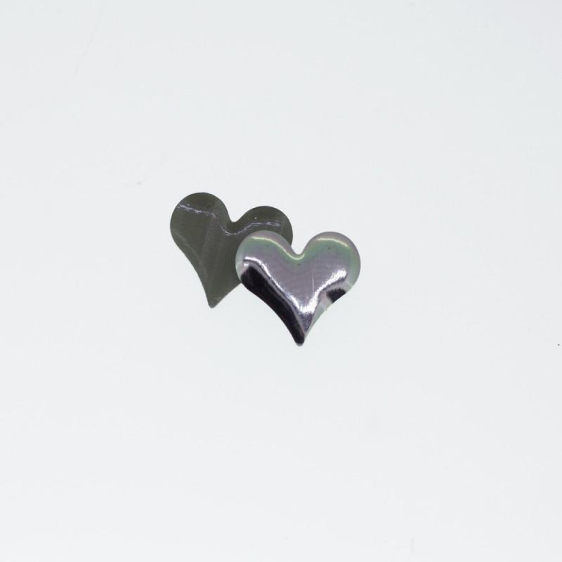 Clous coeur nickel