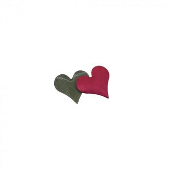 Clous coeur rouge mate
