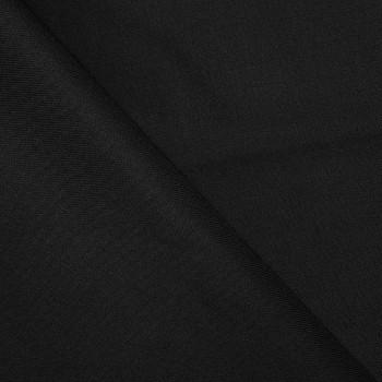 tissu viscose tencel poly sergé noir  x 10 CM