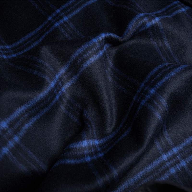 tissu lainage bleu a carreaux tissus en ligne pretty. Black Bedroom Furniture Sets. Home Design Ideas