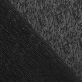 Tissu voile ajouré noir x 10cm
