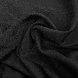 Tissu polyester ajouré noir x 10cm