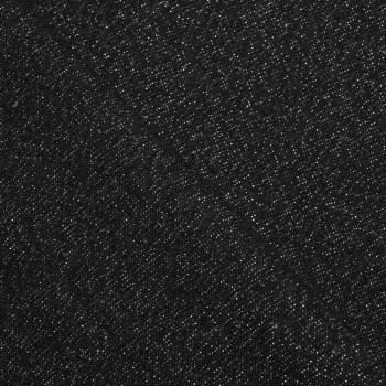 TISSU LAINAGE LEGER NOIR & GRIS & LUREX ARGENT x 10 CM