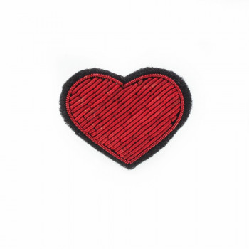 "Broches brodées "" My Heart """