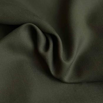 tissu tencel sergé vert kaki  x 10 CM