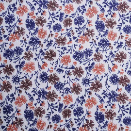 TISSU COTON IMPRIME PISSENLIT FLOWERS  X 10 CM