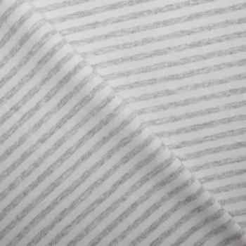 TISSU COTON BIO BANDES GRIS et Blanc X 10 CM
