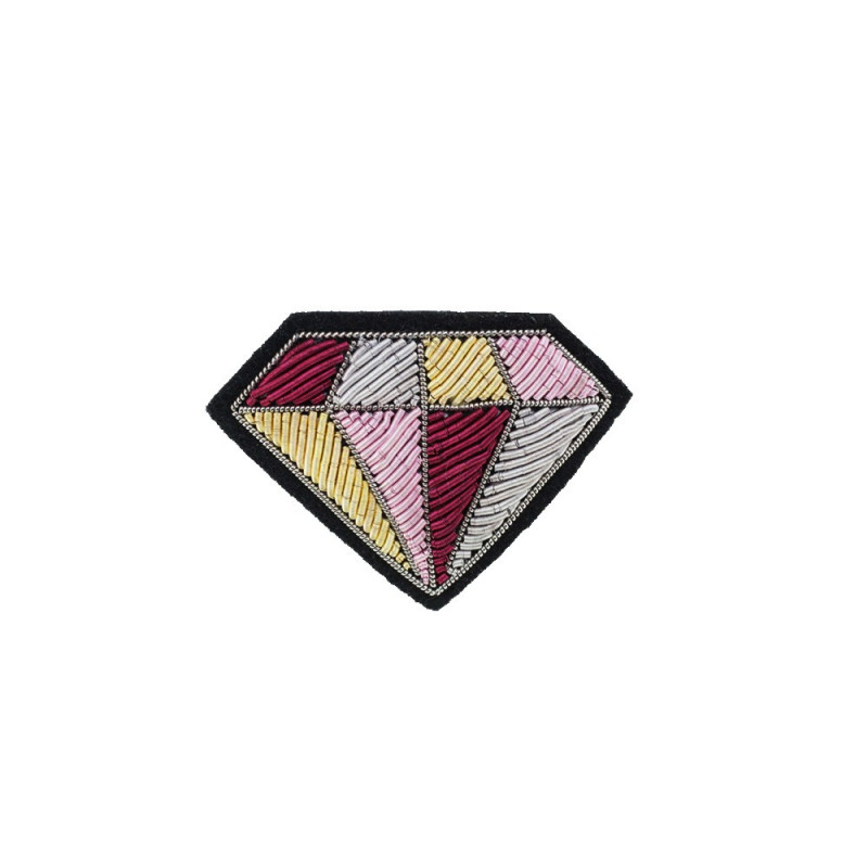 "Broches brodées "" Diamond """