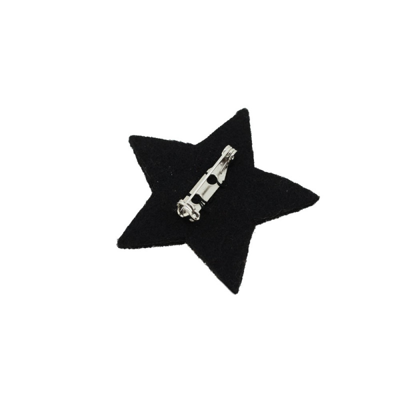 "Embroidered ""Star"" brooches"