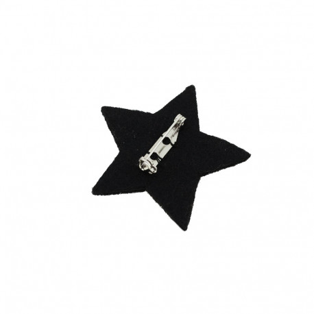 "Broches brodées "" Star """
