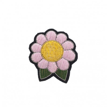 "Broches brodées "" Flower Power """