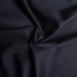 Tissu tissé viscose gris bleu & noir x 10cm