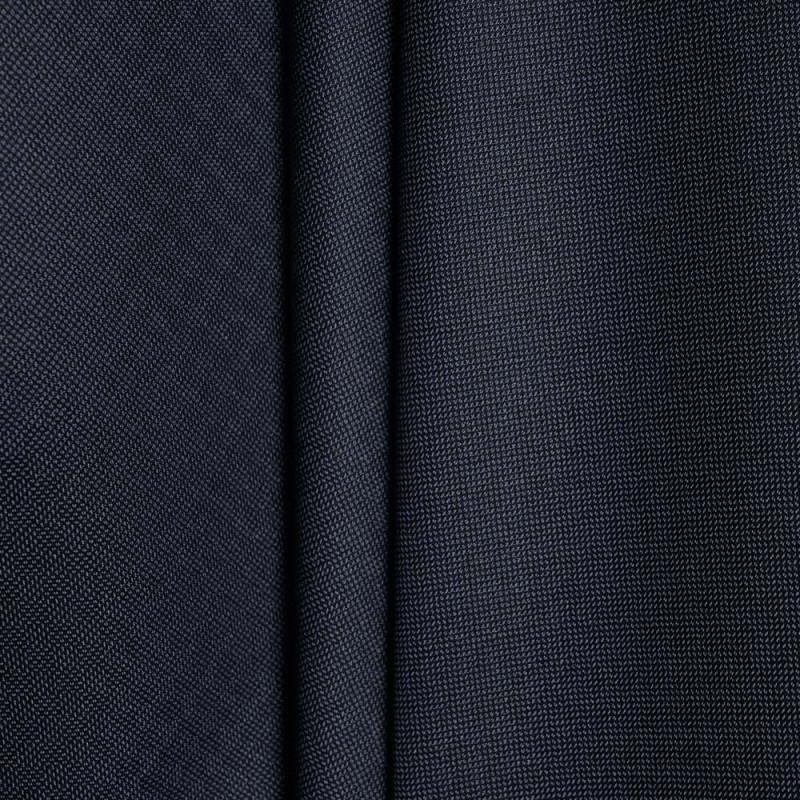 Tissu tissé polyester viscose gris bleu & noir x 10cm