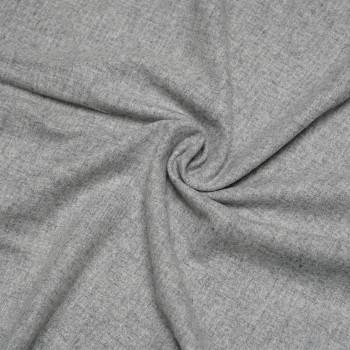 Tissu lainage gris clair chiné x 10cm