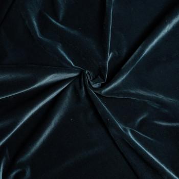Tissu velours côtelé vert canard x 10cm