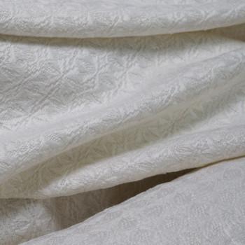 Tissu lainage tricoté blanc cassé x 10cm