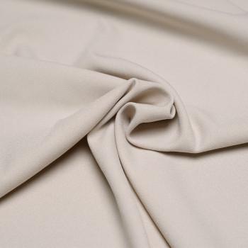 Tissu crêpe polyester beige x 10cm Pretty Mercerie - Tissus pas cher - Mercerie en ligne