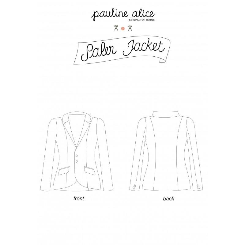 Veste Saler - patron de couture - mercerie en ligne - pretty mercerie