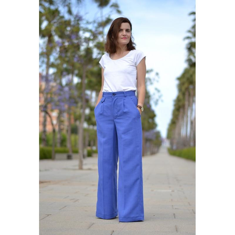 Pantalon Sorell - patron de couture - mercerie en ligne - pretty mercerie
