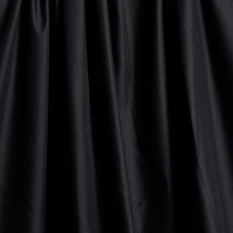 Tissu gabardine poly-coton noir x 10cm  Pretty Mercerie -Mercerie en ligne