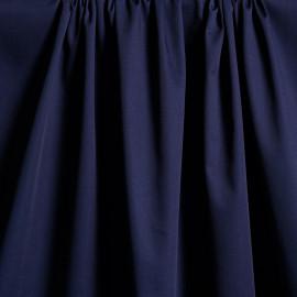 Tissu gabardine poly-coton bleu x 10cm  Pretty Mercerie -Mercerie en ligne