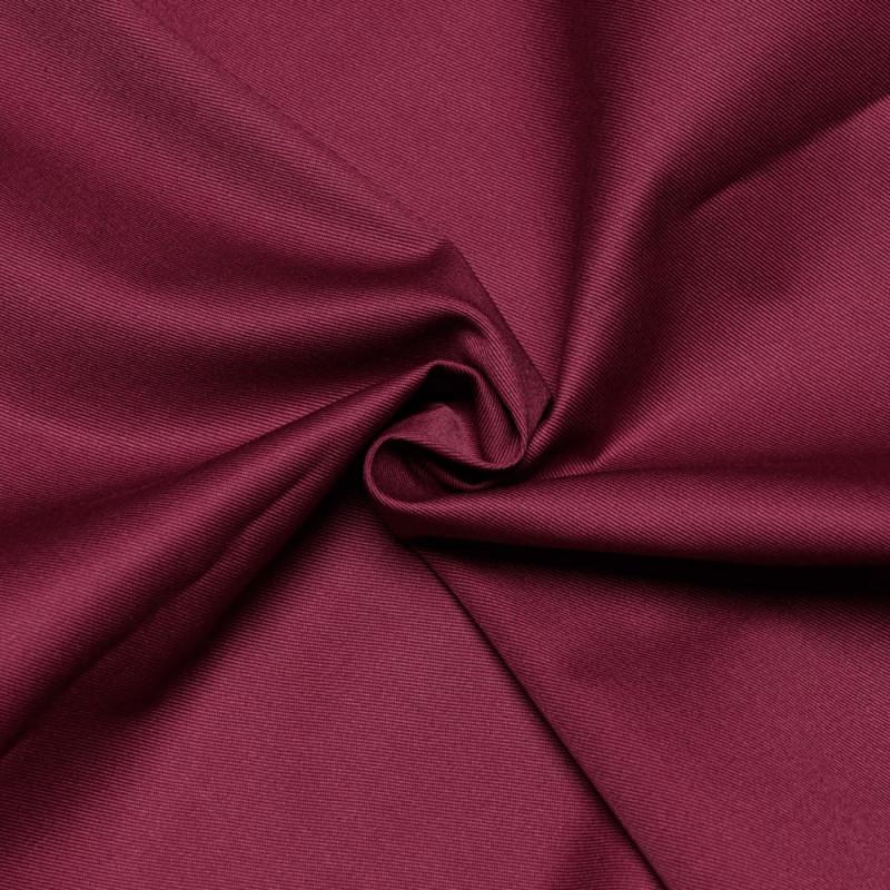 Tissu gabardine poly-coton beaujolais x 10cm  Pretty Mercerie -Mercerie en ligne