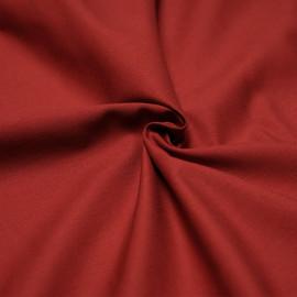 Tissu coton rouge brique x 10cm