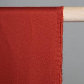 Tissu coton rouge brique x 10cm - Pretty Mercerie -Mercerie en ligne