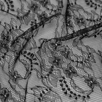 Tissu dentelle black daisy x 10cm Pretty Mercerie - Mercerie En Ligne