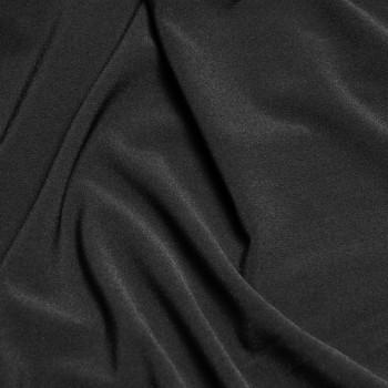 Tissu crêpe polyester noir x 10cm Pretty Mercerie - Mercerie en ligne